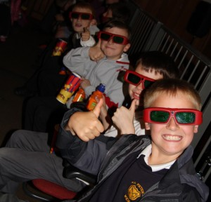 boys give 3D the thumbs up! square