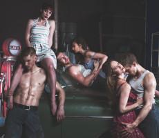 Ensemble on car_Matthew Bourne's THE CAR MAN_ Photo Chris Mann