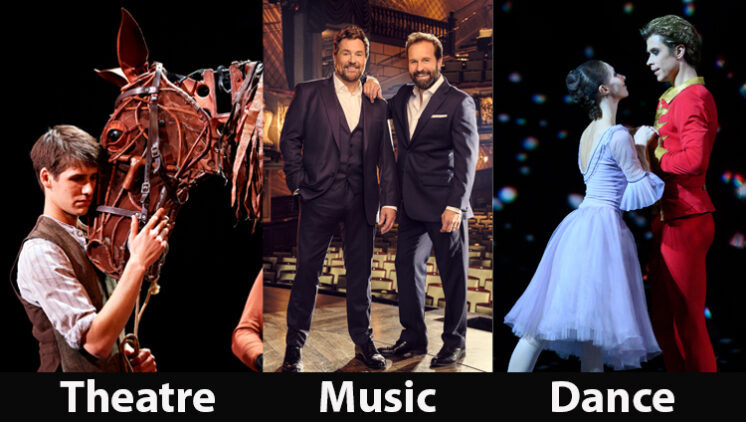 Coming Soon on the Big Screen at Wem Town Hall - National Theatre's War Horse, Michael Ball and Alfie Boe: Together Again, The Bolshoi Ballet presents The Nutcracker